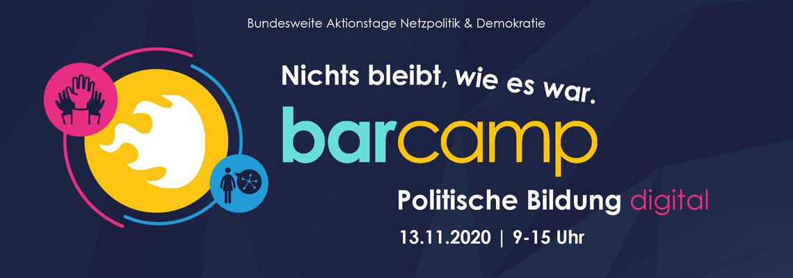 Logo Nichts bleibt wie es war - Barcamp politische Bildung digital