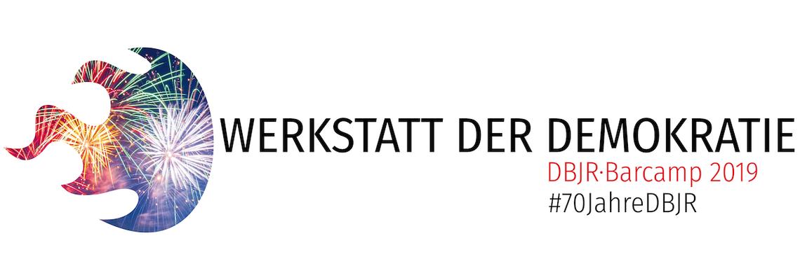 Logo WERKSTATT DER DEMOKRATIE (DBJR·Barcamp 2019)