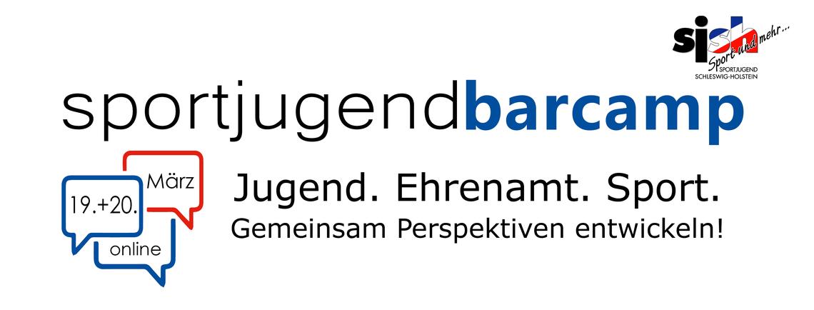 Logo Sportjugendbarcamp - Jugend. Ehrenamt. Sport.