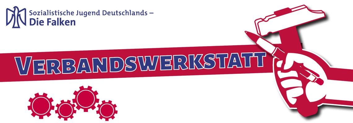 Logo Verbandswerkstatt 2018 der SJD - Die Falken