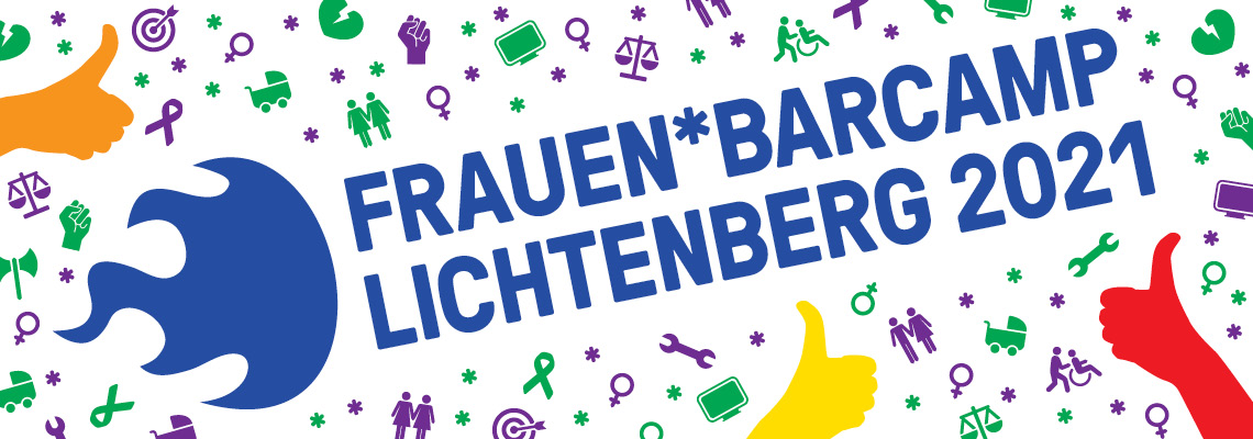 Logo Frauen*Barcamp Lichtenberg 2021