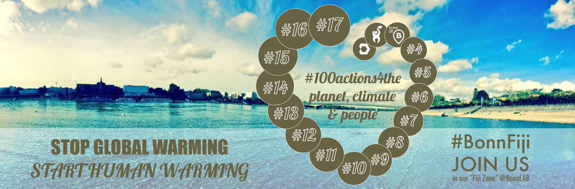 Logo #100actions4the planet, climate & people