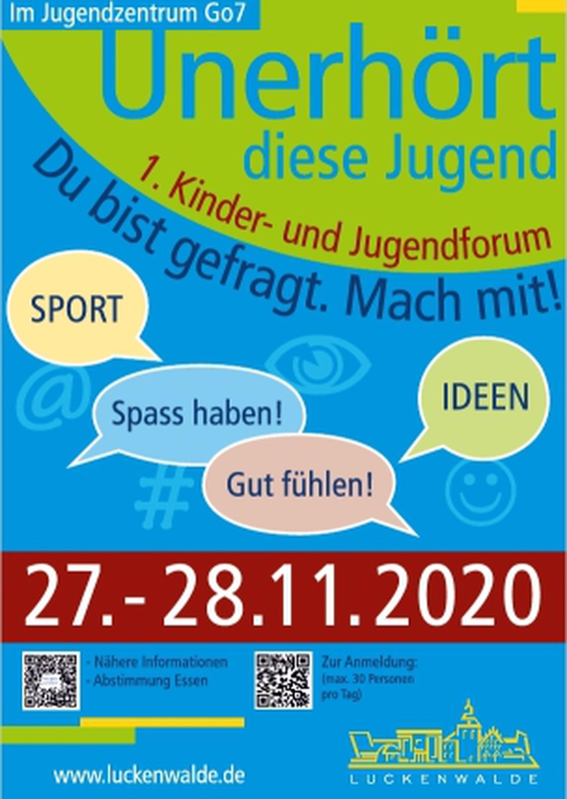 Logo Abgesagt: 1. Kinder und Jugendbeteiligungsforum in Luckenwalde 2020