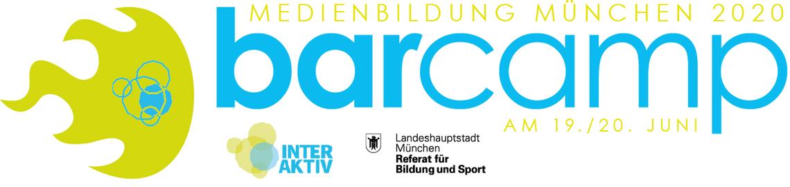 """Logo Online-Barcamp """"Medienbildung München 2020"""""""