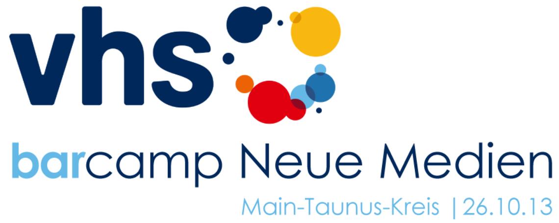 Logo vhs Barcamp |  Neue Medien