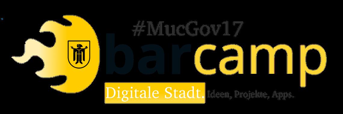 Logo MucGov17 BarCamp Digitale Stadt