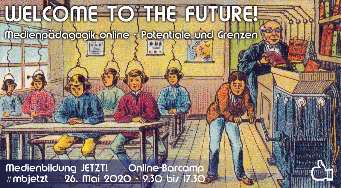 Logo Welcome to the future! Medienpädagogik online - Potentiale und Grenzen