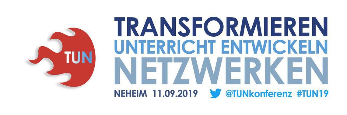 Logo #TUN - transformieren - Unterricht entwickeln - netzwerken