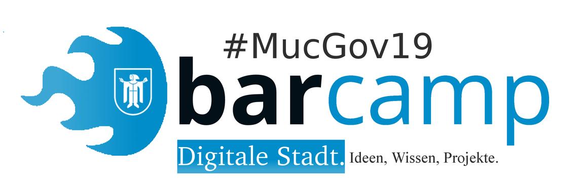 Logo MucGov19 BarCamp Digitale Stadt