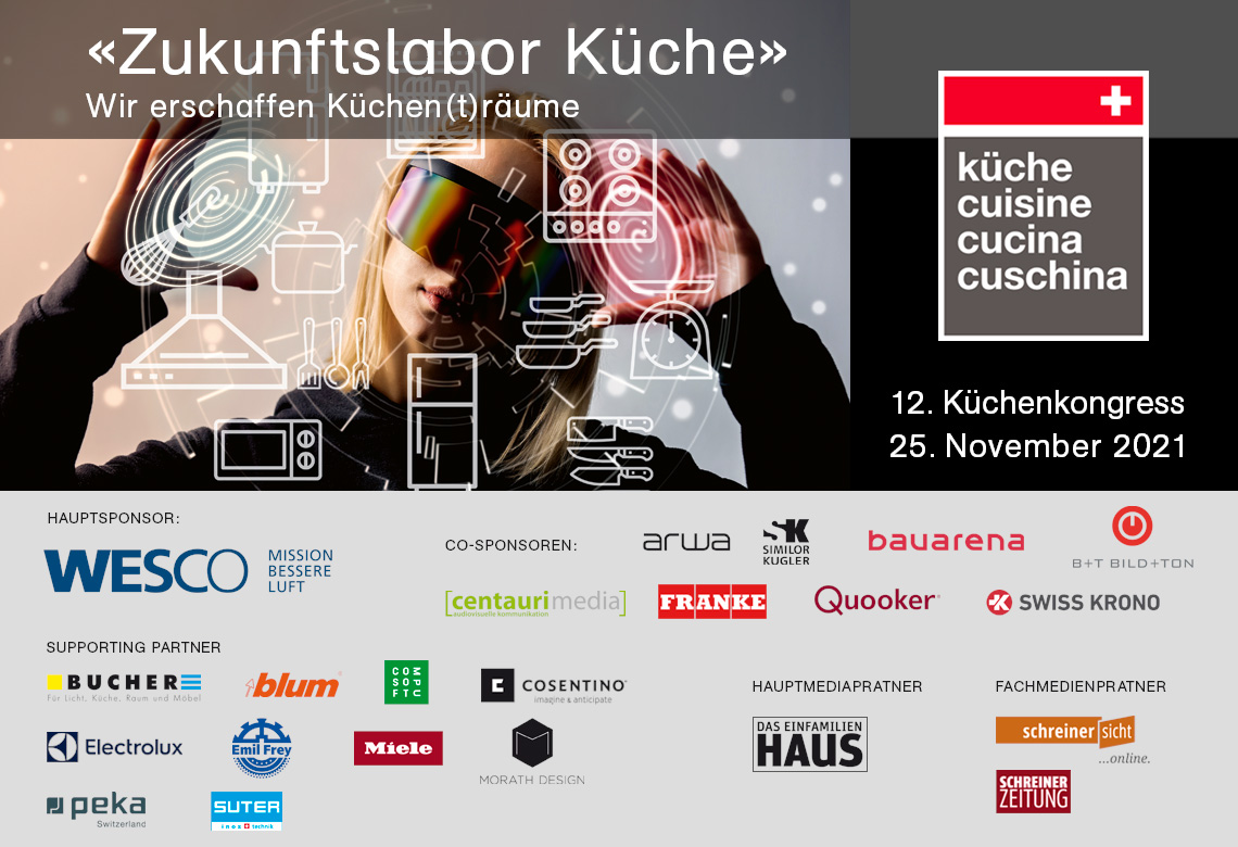 Logo Küchenkongress/Swiss Kitchen Awards 2021 - Zukunftslabor Küche - Wir erschaffen Küchen(t)räume