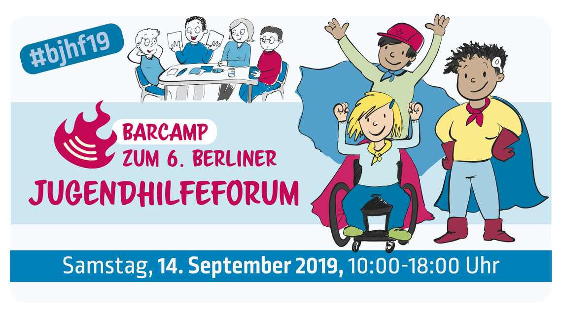 Logo Barcamp zum Jugendhilfeforum