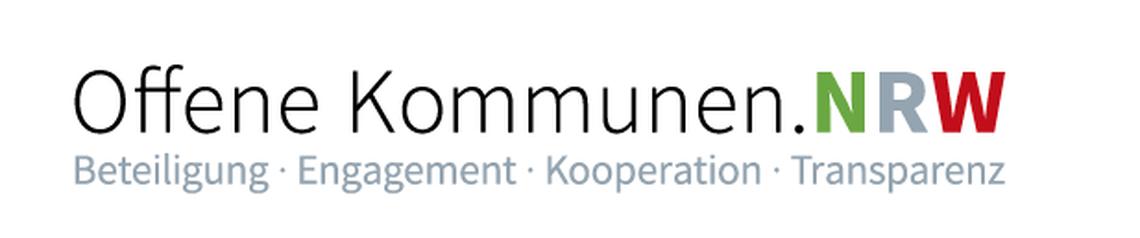 Logo Offene Kommunen. NRW - Klima-Unkonferenz