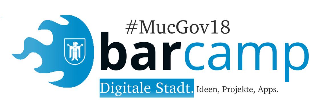 Logo #MucGov18 BarCamp Digitale Stadt