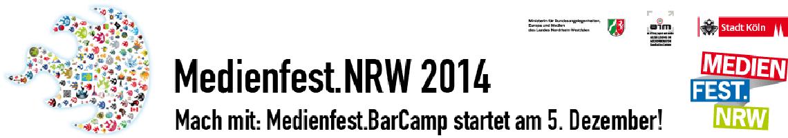 Logo Medienfest.NRW: Medienfest.BarCamp #medienfest