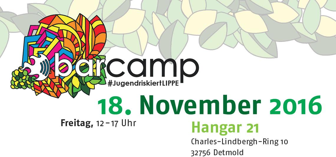 Logo Barcamp #JugendriskiertLIPPE