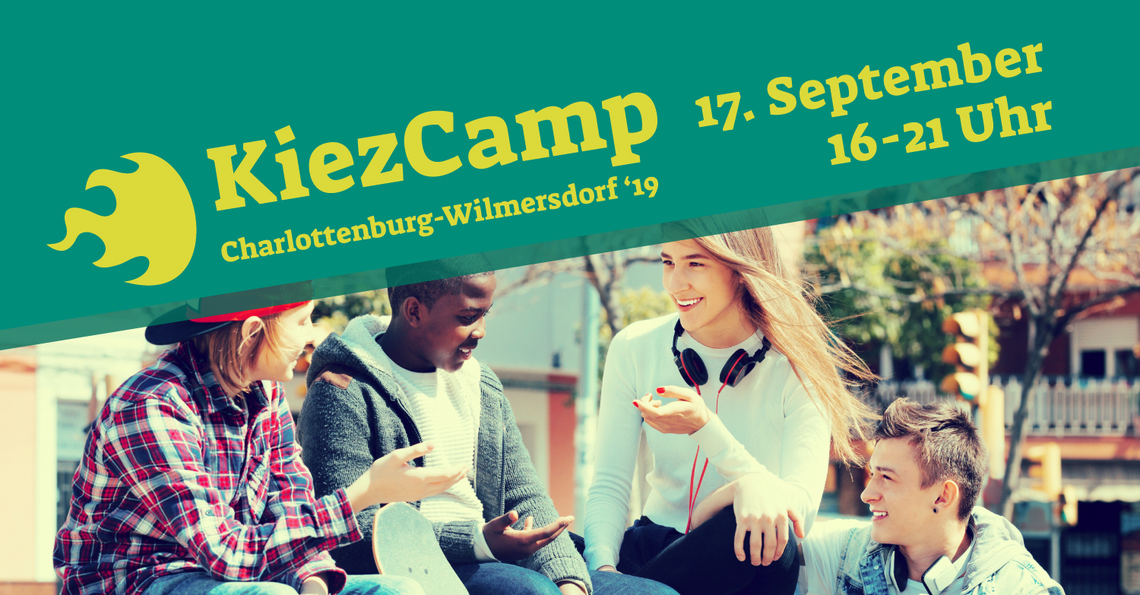 "Logo KiezCamp Charlottenburg-Wilmersdorf ""19"