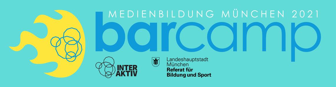 """Logo Online-Barcamp """"Medienbildung München 2021"""""""