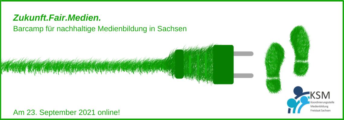 Logo Zukunft.Fair.Medien. - Barcamp für nachhaltige Medienbildung in Sachsen ONLINE