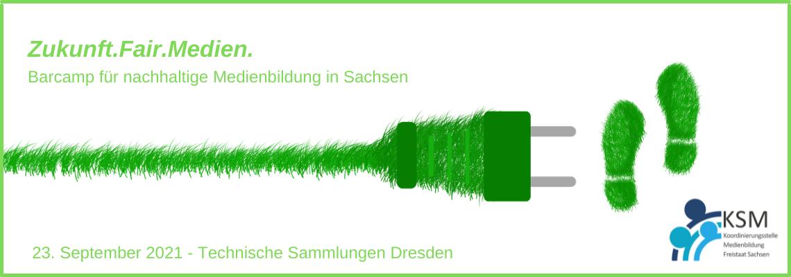 Logo Zukunft.Fair.Medien. - Barcamp für nachhaltige Medienbildung in Sachsen