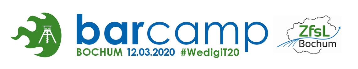 Logo #WedigiT20 - Aus aktuellem Anlass entfällt das Barcamp. Wiederholung Spätsommer