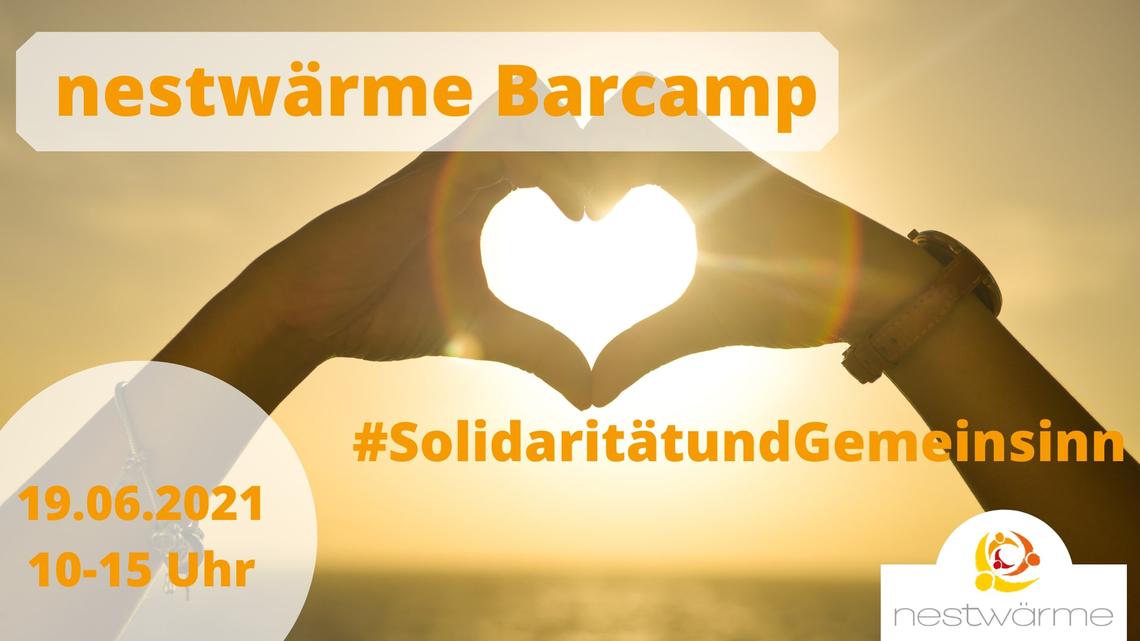 Logo 3. nestwärme Online-Barcamp #SolidaritätundGemeinsinn