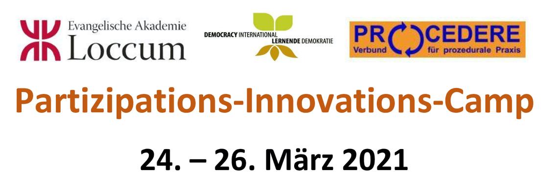 Logo Partizipation-Innovation-Camp 2021 ... Krisen gemeinsam meistern