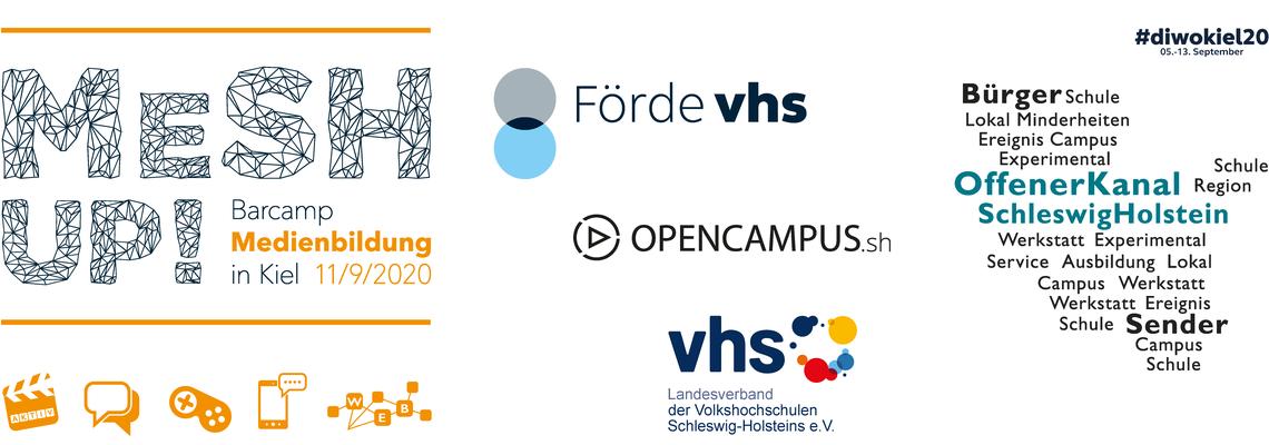 """Logo MeSH Up! 2020 –  Das Kieler Online-Barcamp """"Medienbildung"""""""