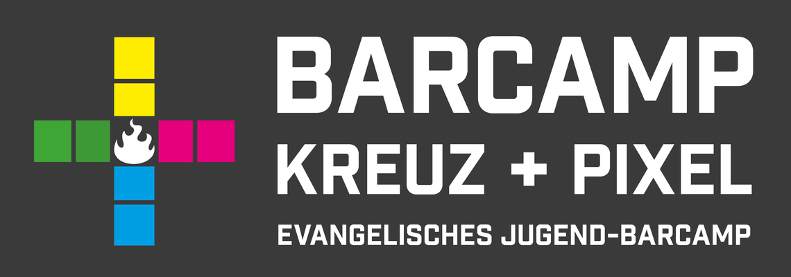 Logo Kreuz+Pixel Evangelisches Jugend BarCamp