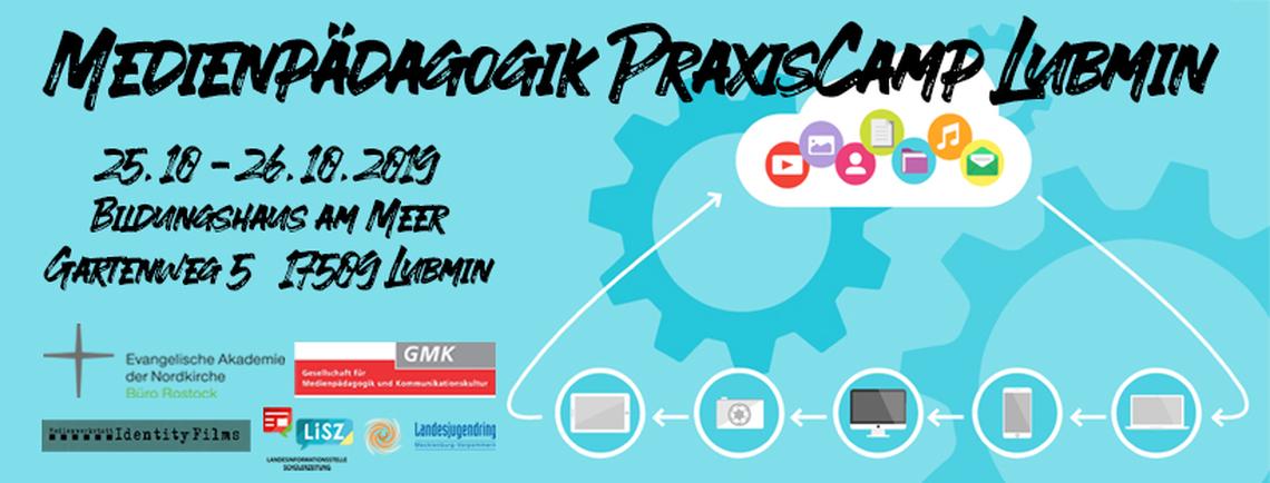 Logo Medienpädagogik PraxisCamp Lubmin 2019