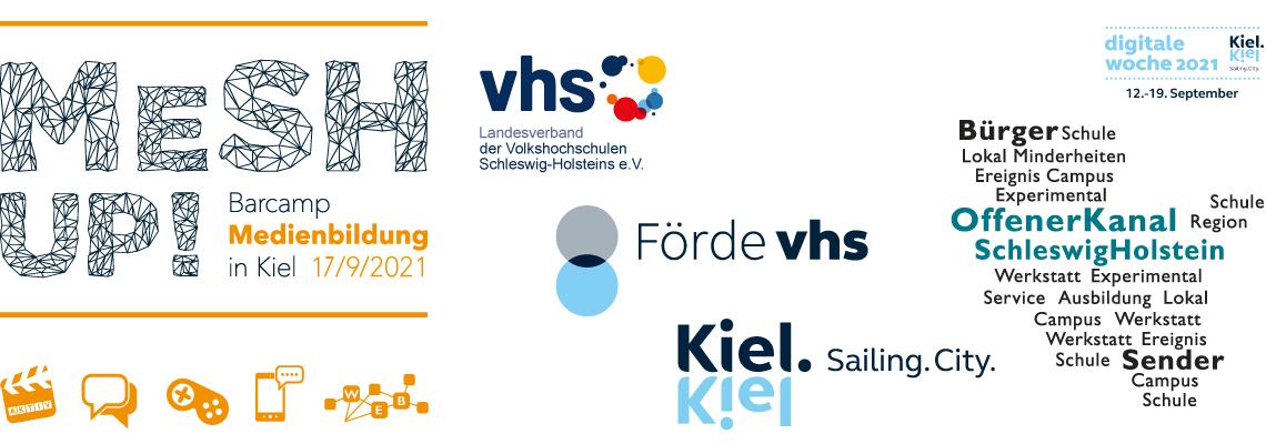 """Logo MeSH Up! 2021 –  Das Kieler Online-Barcamp """"Medienbildung"""""""